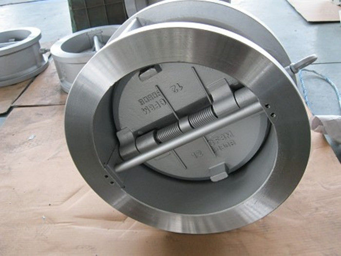 Flanged Dual Plate Wafer Check Valve , Full Port Wafer Lug Type Check Valve